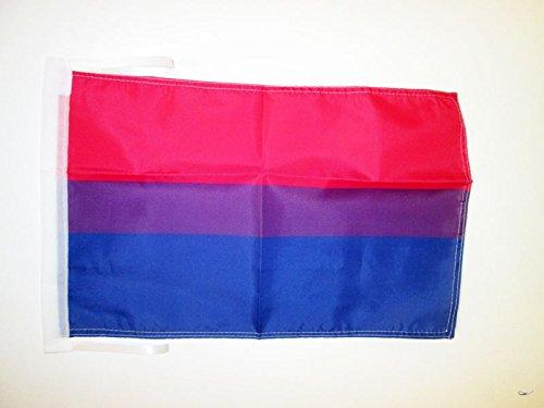 AZ FLAG Flagge BISEXUELLEN 45x30cm mit Kordel - BISEXUALITÄT Fahne 30 x 45 cm - flaggen Top Qualität