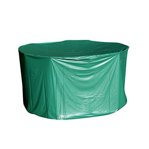 OSE Housse de Protection PVC Table Ronde de Jardin