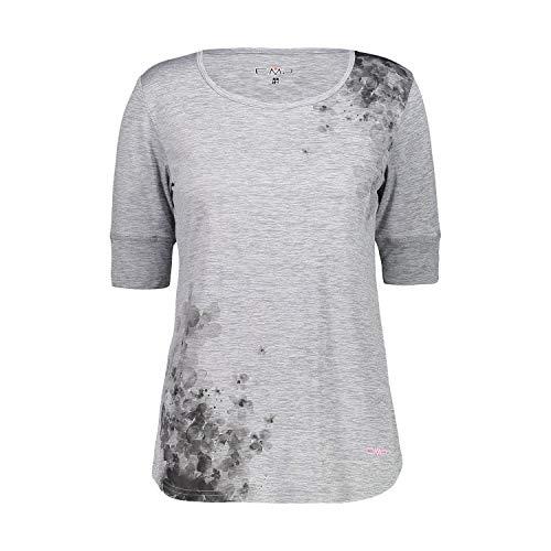 CMP T-Shirt léger mélangé pour Femme avec Protection Solaire UPF 40 XL Grigio Mel.-BUNGANVILLE