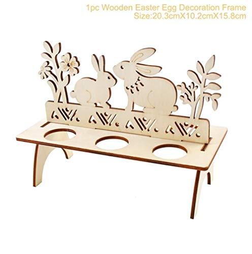12 Stück Hase Holz Foto Clips Happy Easter Handgefertigt Diy Wohndeko