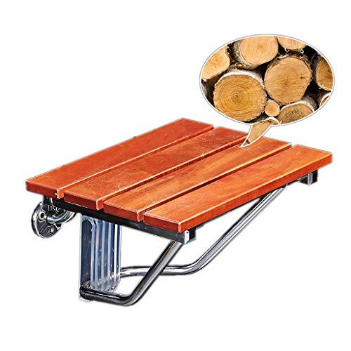 HLLZRY wandgemonteerde houten douchestoel Bevestiging - Duurzame opvouwbare badstoelen met beugels stoelen voor douche voor volwassenen ouderen, belasting 160KG