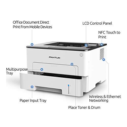 Pantum P3302DW Impresora láser monocromo inalámbrica compacta en blanco y negro Impresora de oficina en casa e impresión de doble cara