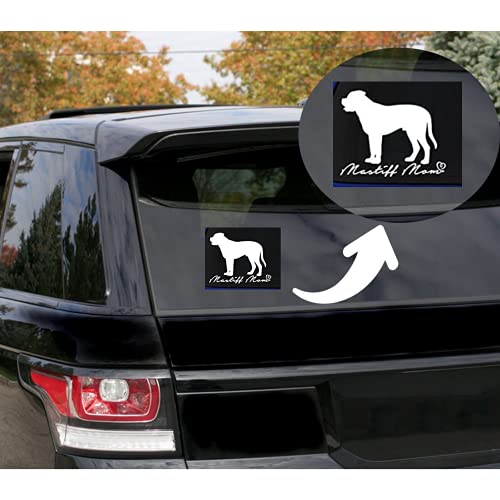 Rohansson Retail & Deals Mastiff Mom Vinyl Decal Sticker for Cars Trucks Vans / Laptop MacBook Compatible with All MacBook Pro, Clear Printed Decal Sticker RRD507 5.5 White