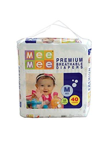 Mee Mee Premium Diapers, Medium, 40 Count