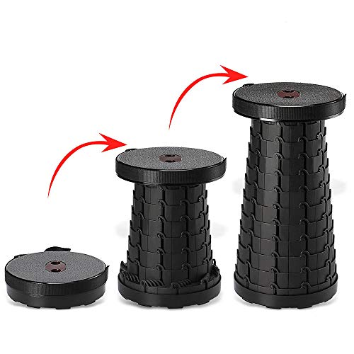 Night Cat Folding Stools 3rd Generation for Camping Retractable Plastic Chair Portable Lightweight Collapsible for Adults Kids Fishing Outdoors Indoors Max Load 330lbs