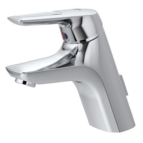 Ideal Standard A5646AA Einhebel-Waschtischarmatur-Armatur Ceramix Blue mit Zugknopf-Ablaufgarnitur, chrom