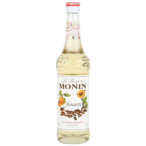 Monin Sirope Amaretto - Paquete de 3 x 700 ml - Total: 2100 ml
