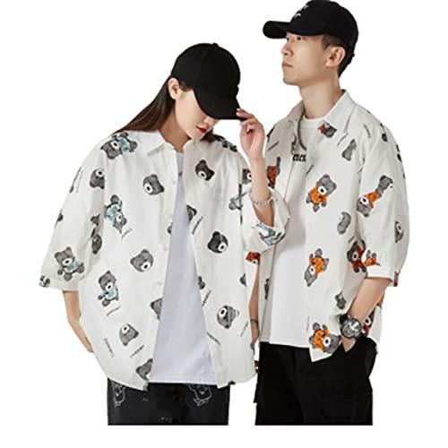 XVBN Passende Paar Sommerhemden, Gelegenheitshemden, Dreiviertelhülsenjacken für Männer und Frauen, eine Vielzahl von Stilen zur Auswahl B