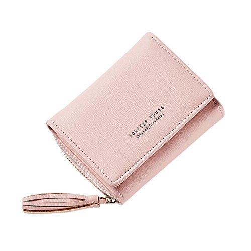 Diyafas Diyafas Damen Quaste Portemonnaie Kurz Brieftasche Kartenhalter Reißverschluss Geldbörse Damen Kleine Clutch Handtasche