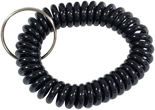 5pcs Spring Spiral Wrist Band With Stretchable, Elastic Coil Keychain For Keyring Holder, Gym Pool id Badge, Locker Key, Outdoor Sport - Wristband Keyholder Items