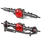 INJORA RC Axles CNC Metal RC Axles Complete Set for 1:10 RC Crawler Axial SCX10 D90 Recat Gen 7 (Tatanic & Red)