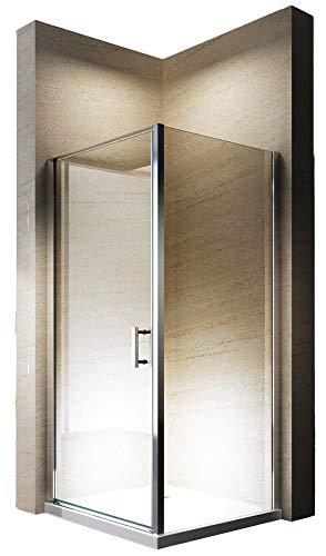 Hoek douchescherm, douchecabine hoek, van zuiver NANO-glas EX416-100 x 100 x 195cm - met douchebak