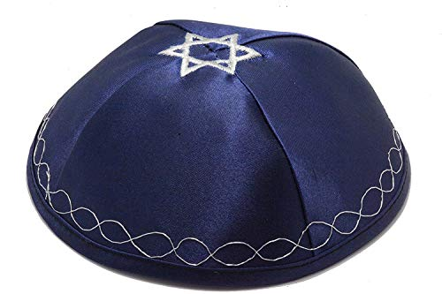 Kippa avec drapeau d'Israël (étoile de David sur le dessus)