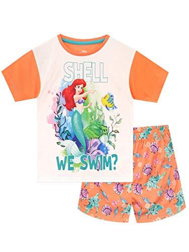 Disney Pijamas de Manga Corta para niñas La Sirenita Naranja 4-5 Años