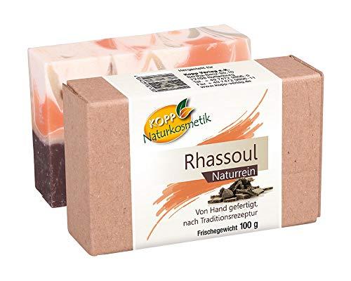 Kopp Naturkosmetik Rhassoul Seife | vegan | Frischegewicht 100 g | Naturrein | von Hand gefertigt