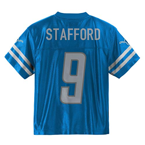 Outerstuff Matthew Stafford Detroit Lions #9 Blue Youth Home Player Jersey (Large 14/16)