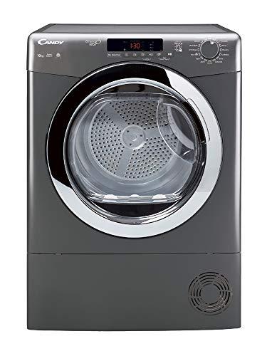 Candy Grand O'Vita GVSC10DCGR Freestanding Condenser Tumble Dryer, Large Capacity, 10 kg Load, Graphite
