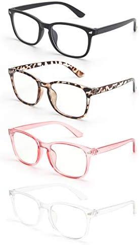 Blue Light Blocking Glasses Anti Glare UV Blue Ray Filter Computer Gaming Glasses Fashion Fake product image