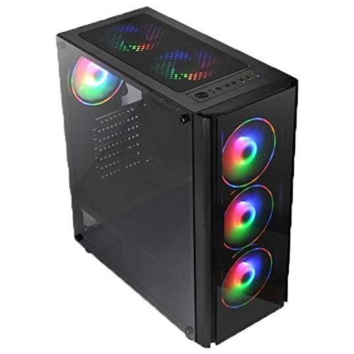 GOLOOK • PC Desktop Gaming RGB • Intel i7 • 16GB • SSD 240GB • HD 1TB • WiFi • Scheda Video Dedicata GTX 1650 4GB • Windows 10 Pro X64 • Computer Fisso Assemblato • 3 Ventole