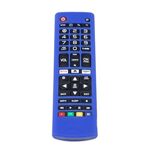 CROSYO Cubierta de silicona de caja de control remoto 1pc para LG AKB74915305 AKB75095307 AKB75375604 R9CB (Color : Blue)