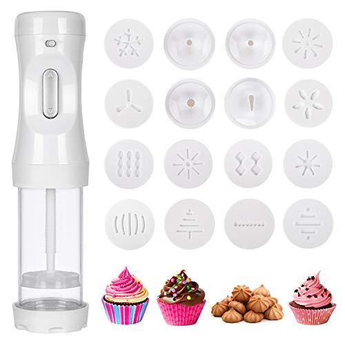 ORNOOU Electric Cookie Press Gun Handheld Cookie Press Maker Kit With...