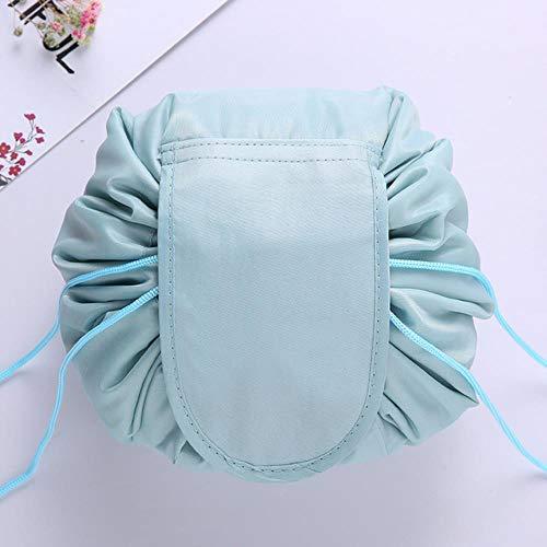 FXC Kosmetiktasche für Damen, mit Kordelzug, Make-up-Tasche Blank grau blau