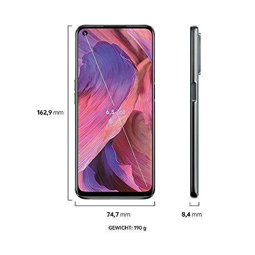 OPPO A54 5G Smartphone, 48 MP KI-Vierfachkamera mit Ultra Nacht Video, 6,5 Zoll 90 Hz FHD+ Neo-Display, 5.000 mAh Akku, 5G-Prozessor, 64 GB Speicher, 4 GB RAM, ColorOS 11.1, Dual-SIM, Fluid Black - 7