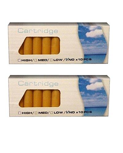 VANILLE + ERDBEERE Aromakapseln, 2er Pack E-Zigarette Depots, 0.0mg, z.b. für Clever Smoke, e-health, uvm.