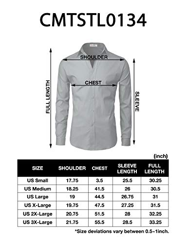 H2H-Mens-Dress-Slim-Fit-Shirts-Long-Sleeve-Business-Shirts-Basic-Designed-Breathable
