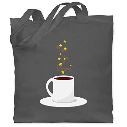 Shirtracer Küche - Kaffee-Tee-Spruch - Unisize - Dunkelgrau - spruch tee - WM101 - Stoffbeutel aus Baumwolle Jutebeutel lange Henkel