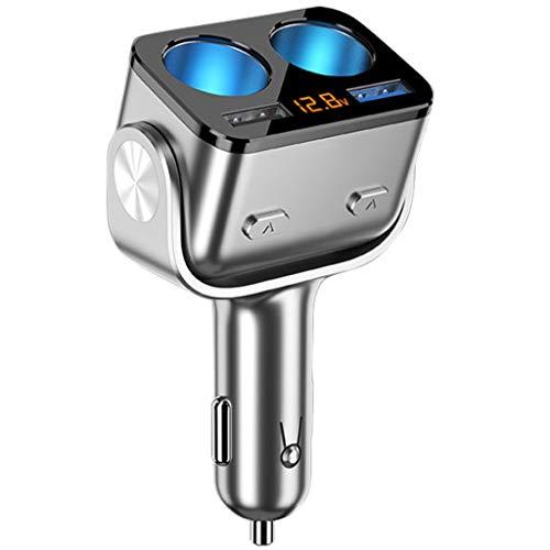 YLHXYPP Toma para coche cargador distribuidor doble USB QC 3.0 carga rápida 12 V toma para toma de coche (color: A)