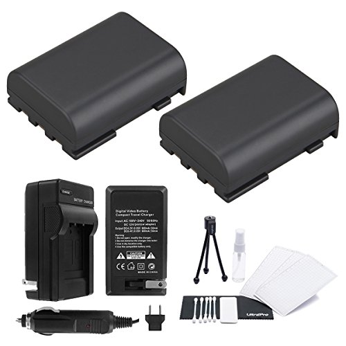 NB-2LH Battery 2-Pack Bundle with Rapid Travel Charger and UltraPro Accessory Kit for Select Canon Cameras Including ZR100, ZR200, ZR300, ZR400, ZR500, ZR600, ZR700, ZR800, ZR830, and ZR850