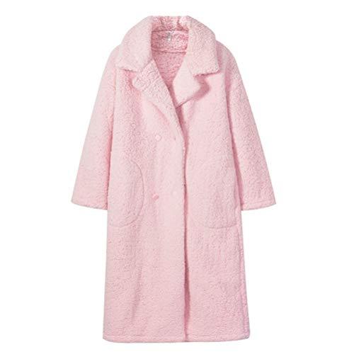 LFNIU Pijamas de terciopelo de cachemira rosa para mujer