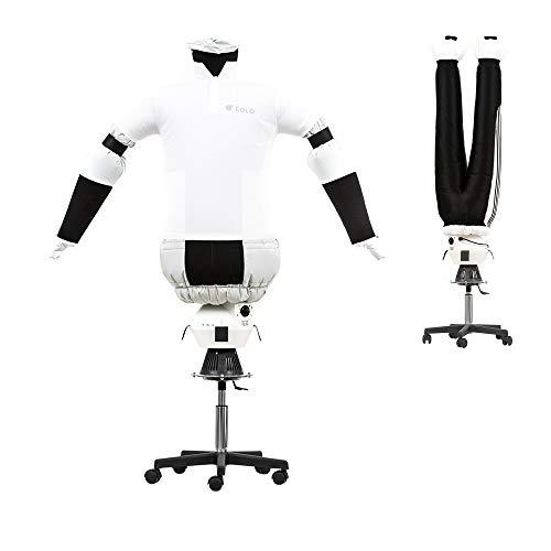 EOLO RepaSSecheur Repasse Sèche automatiquement chemises, pantalons. Rafraîchir vêtements avec air froid Repassage vertical professionnel Base à 5 rou