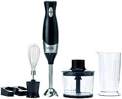Grundig BL 5040 premium stick mixer set (400 Watt, 800 ml plastic container), black-silver