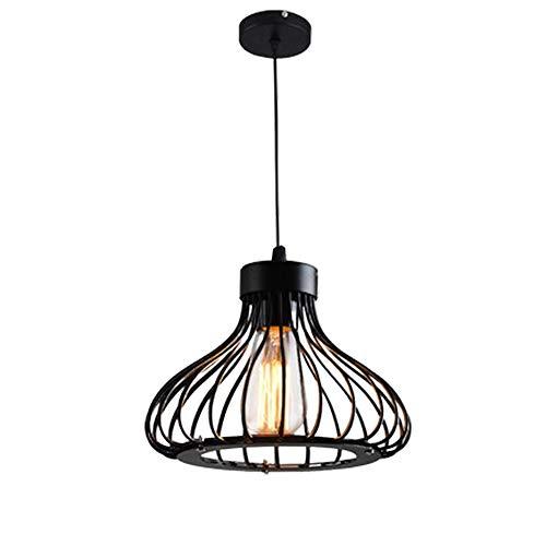 Sgohevn Iluminación Colgante Accesorio Colgante, luz de Techo de Jaula Industrial de una luz, diseño de Montaje Empotrado, para Cocina, cafetería, Bar, Granja, Sala de Estar