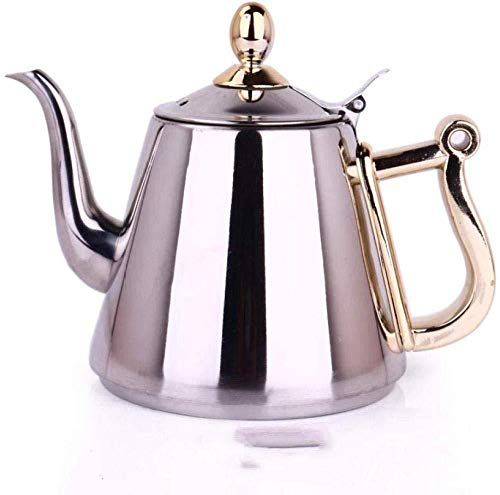 Yruog Teteras Tetera de acero inoxidable Tetera de té Tetera de acero inoxidable Tetera de café Tetera de acero inoxidable 304 Tetera de inducción Tetera de fondo plano Tetera pequeña Juego de té