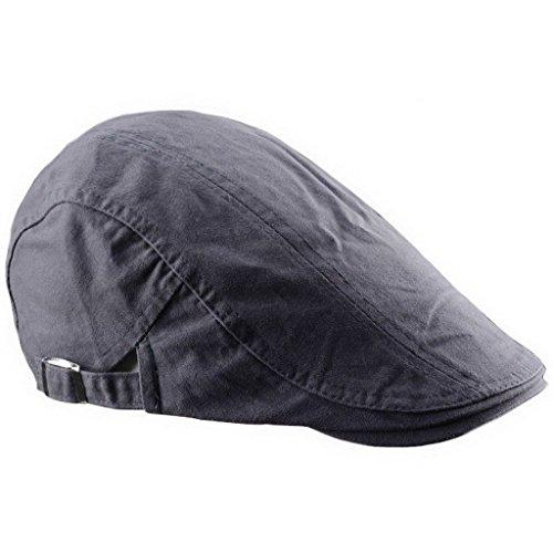 Ukerdo Coton Appartement Bérets Chapeau pour Homme Cabbie Duckbill Casquettes Accessories - Gris