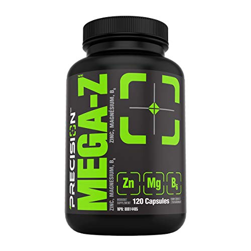 Precision Mega-z Supplement, 120 Count |Sport-safe, with Zinc, Magnesium and Vitamin B6