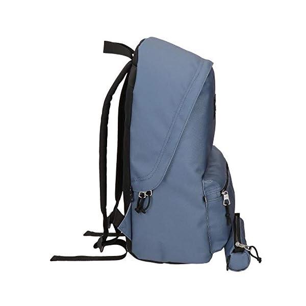 Pepe Jeans Aris Mochila para Portátil 15,6″ + Estuche Escolar Azul 31x44x17,5 cms Poliéster 23.87L