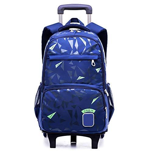 Studenten Trolley Taschen Schultasche, Carry wasserdichte Rollen Trolley Schultasche Rucksack auf Rädern auf Gepäck Primary SchoolStudents (Color : C)