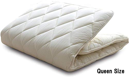 Great Deal! BJDesign Futon Mattress Queen Bedding - Traditional Japanese Sleeping Mat - Shikibuton S...