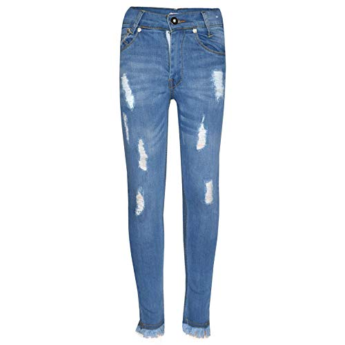 A2Z 4 Kids® Stretch-Jeans für Mädchen, mit Rissen, Denim-Hose, Jeggings, Alter 5-13 Jahre Gr. 11-12 Jahre, Style 1 Hellblau