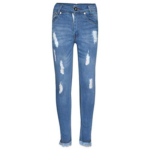 A2Z 4 Kids® Mädchen Dehnbar Jeans Kinder - Girls Jeans Ripped_GJ01 Light Blue 11-12