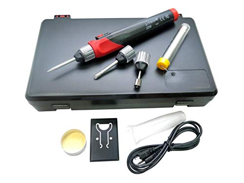 KINGTOOL Rechargeable Cordless Soldering Iron Tool, Sharp soldering tip, Cone soldering tip, Heat shrink