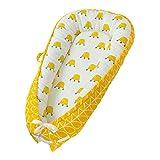 CUTICATE Weich Babynest Kuschelnest Faltbar Baby Nest Wickelauflage Kuschelbett - Gelbe Krone