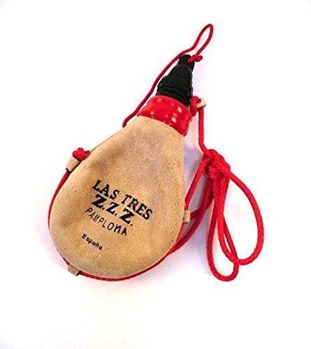 Las Tres Z.Z.Z. Bota de Vino Recta de látex Mini -1/4 litro