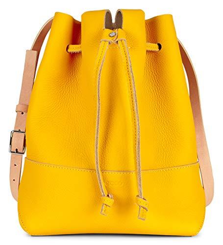 ECCO Jilin Tandem-Tasche mit Kordelzug, Gelb (Merigold/Beige), Einheitsgröße