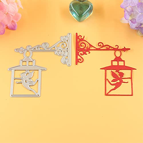 Fairy Angel Lamp Cutting Dies Cut Metal Scrapbooking Stencils Die for DIY Embossing Photo Album Decorative DIY Paper Cards Making Craft
