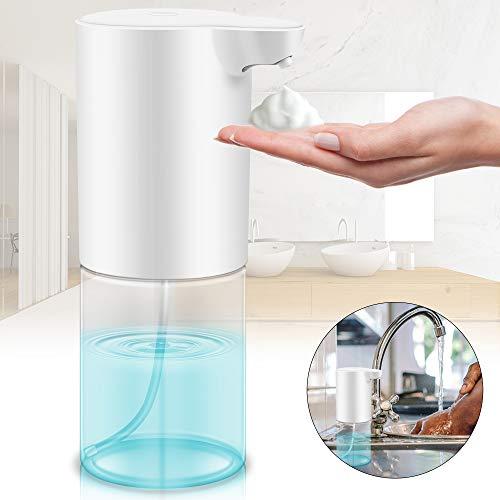HOSPAOP Seifenspender Automatisch, 320ML Berührungslos Schaumseifenspender Automatischer Seifenspender mit Sensor Infrarot, Desinfektionsspender Sensor für Küche, WC